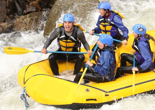 adventure birthday gifts for him - white water rafting