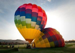 Hot air balloon ride gift certificate