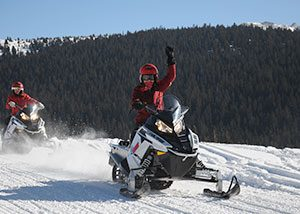 Snowmobiling is a fun winter activity in colorado